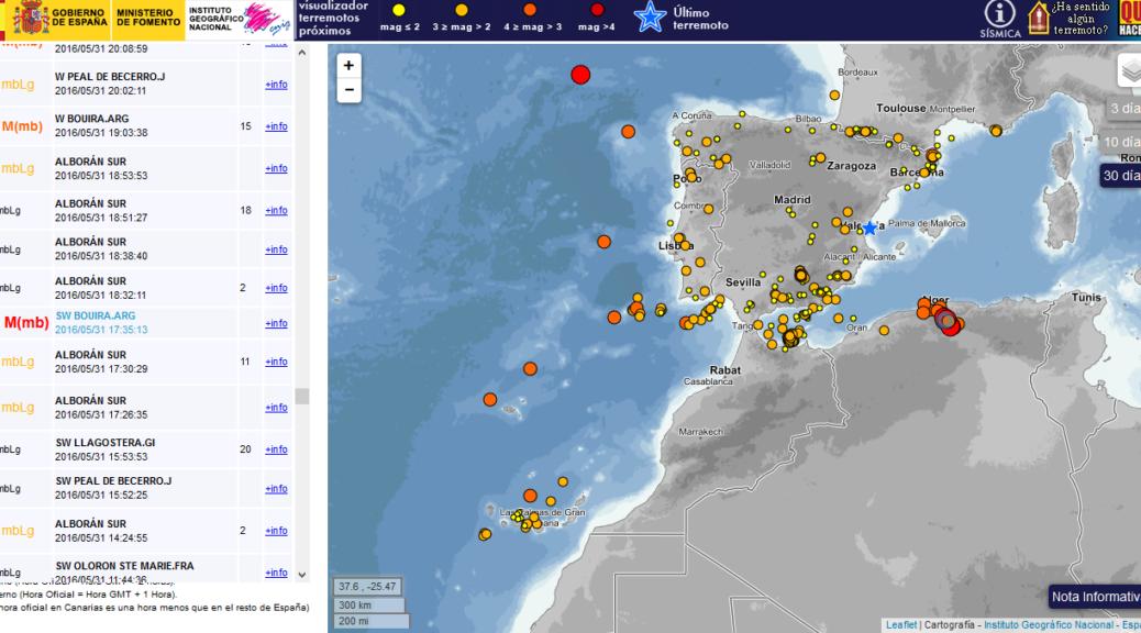 Jordbävningar i Spanien